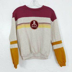 Atari Beige, Red & Yellow Retro Logo Sweatshirt